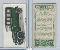 C22 Imperial Tobacco, Motor Cars, 1921, #19 Sunbeam
