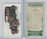 C22 Imperial Tobacco, Motor Cars, 1921, #23 Lanchester