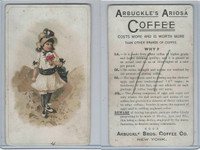 K9 Arbuckle Coffee, General Subjects, 1890, #71 Child Holding Flowers