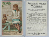 K9 Arbuckle Coffee, General Subjects, 1890, #85 Girl With Dog