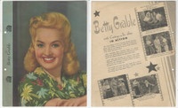 F5-8 Dixie Cup, Premium, 1942, Movie Stars, Betty Grable