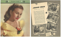 F5-17 Dixie Cup, Premium, 1951, Movie Stars, Jeanne Crain