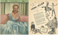 F5-17 Dixie Cup, Premium, 1951, Movie Stars, Vera Ellen
