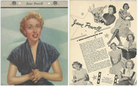 F5-19 Dixie Cup, Premium, 1953, Movie Stars, Jane Powell