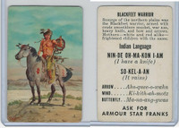 F150-1, Armour Star, Indian Language, 1956, Blackfeet Warrior