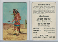 F150-1, Armour Star, Indian Language, 1956, Hopi Snake Dancer
