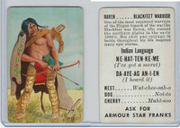 F150-1, Armour Star, Indian Language, 1956, Raven, Blackfeet