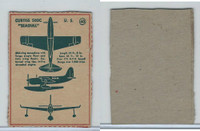 F273-79 Kellogg, Plane Spotter Cards, 1940's, #40 Curtiss Seagull