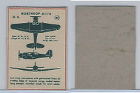 F273-79 Kellogg, Plane Spotter Cards, 1940's, #42 Northrop A17A
