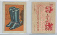 F278-12 Post Cereal, Hopalong Cassidy Wild West, 1951, #33 Boots & Spurs