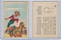 F278-19 Post Cereals, Roy Rogers Pop-Out, 1953, #18 Trick Riding