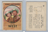 F278-19 Post Cereals, Roy Rogers Pop-Out, 1953, #20 The King And Queen