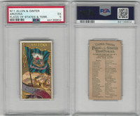 N11 Allen & Ginter, Flags of the States, 1888, Arizona, PSA 5 EX