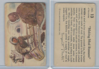 F279-4 Quaker Oats, Sergeant Preston Cards, 1956, #13 Making Mud Runners