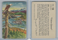 F279-4 Quaker Oats, Sergeant Preston Cards, 1956, #15 Yukon Queen
