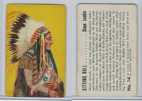 F279-8 Quaker, Braves of Indian Nations, 1956, #14 Sitting Bull, Sioux