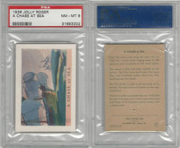F375 Pac-Kups, Jolly Roger, 1936, A Chase At Sea, PSA 8 NMMT