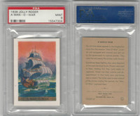 F375 Pac-Kups, Jolly Roger, 1936, A Man-O-War, Pirate, PSA 9 Mint