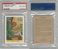 F375 Pac-Kups, Jolly Roger, 1936, A Secret Map, PSA 8 NMMT