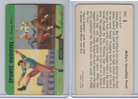 F279-20 Quaker, Sports Oddities, 1954, #1 Johnny Miller, Football