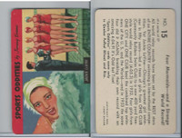 F279-20 Quaker, Sports Oddities, 1954, #15 Jackie Lavine, Swimmer