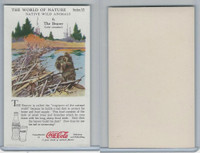 F213-3 Coca Cola, Nature Study, Wild Animals, 1920's,  #6 Beaver