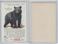 F213-3 Coca Cola, Nature Study, Wild Animals, 1920's,  #11 Black Bear