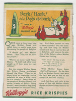 F273-37b Kellogg, Mother Goose Stories, 1933, Hark, Hark The Dogs
