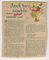 F273-37b Kellogg, Mother Goose Stories, 1933, Jack Be Nimble