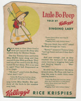 F273-37b Kellogg, Mother Goose Stories, 1933, Little Bo Peep