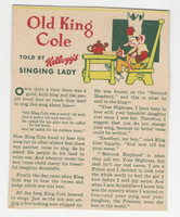 F273-37b Kellogg, Mother Goose Stories, 1933, Old King Cole