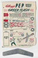F273-73 Kellogg, Pep Turbo Jet Planes, 1948, Green Flash