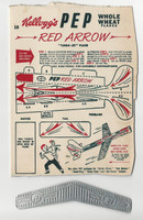 F273-73 Kellogg, Pep Turbo Jet Planes, 1948, Red Arrow