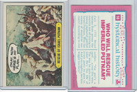 1975 Topps, Hysterical History, #16 Rescue Of Israel Putnam