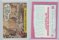 1975 Topps, Hysterical History, #23 Washington Arrives In Manhattan