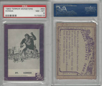 1963 Rosan W528-1, Terror Monsters, Purple, #89 Konga, PSA 8 NMMT