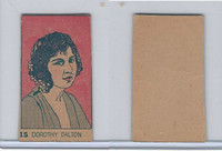 W512 Strip card, Famous People, 1926, #15 Dorothy Dalton