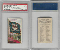 N11 Allen & Ginter, Flags of the States, 1888, Mississippi, PSA 5 EX