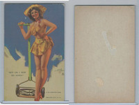 W424-2b Mutoscope, Artist Pin-Up Girls, 1945, Boy-Do I Mow 'EM Down!