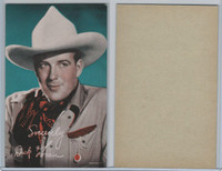 W Card, Cowboys Stars, Color Tint, 1950's, Dick Foran
