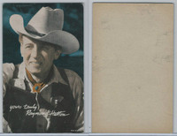 W Card, Cowboys Stars, Color Tint, 1950's, Raymond Hutton