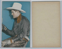 W Card, Cowboys Stars, Color Tint, 1950's, Ken Maynard