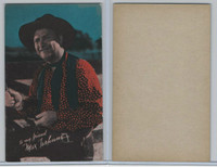 W Card, Cowboys Stars, Color Tint, 1950's, Max Terhune