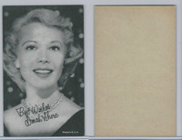 W Card, Exhibit, Salutations Female Singers, 1960's, Dinah Shore