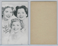 W Card, Exhibit, Salutations Female Singers, 1960's, Fontane Sisters