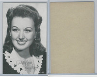 W Card, Exhibit, Salutations Female Singers, 1960's, Ginny Simms