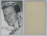 W Card, Exhibit, Salutations Male Singers, 1960's, Pat Boone