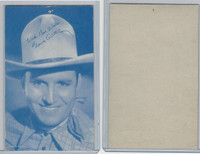 W Card, Cowboys Stars, Blue Tint, 1950's, Gene Autry (3)