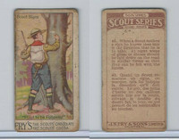 V40  J.S. Fry, Scout Series, 2nd Series, 1912, #45 Scout Signs