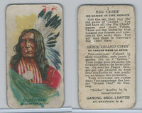 V118 Ganong Bros., Big Chiefs, Indians, 1939, #1 Black Eye, Sioux